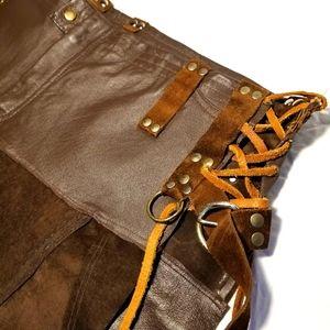 Apocalyptic Leather skirt custom